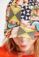 Bayan Çok Renkli Karışık Desenli Cap