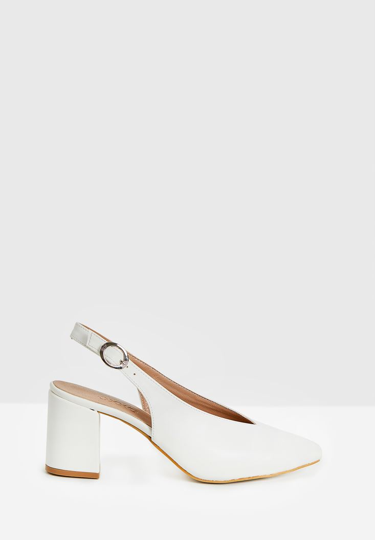 White High Heel Shoes with Detail