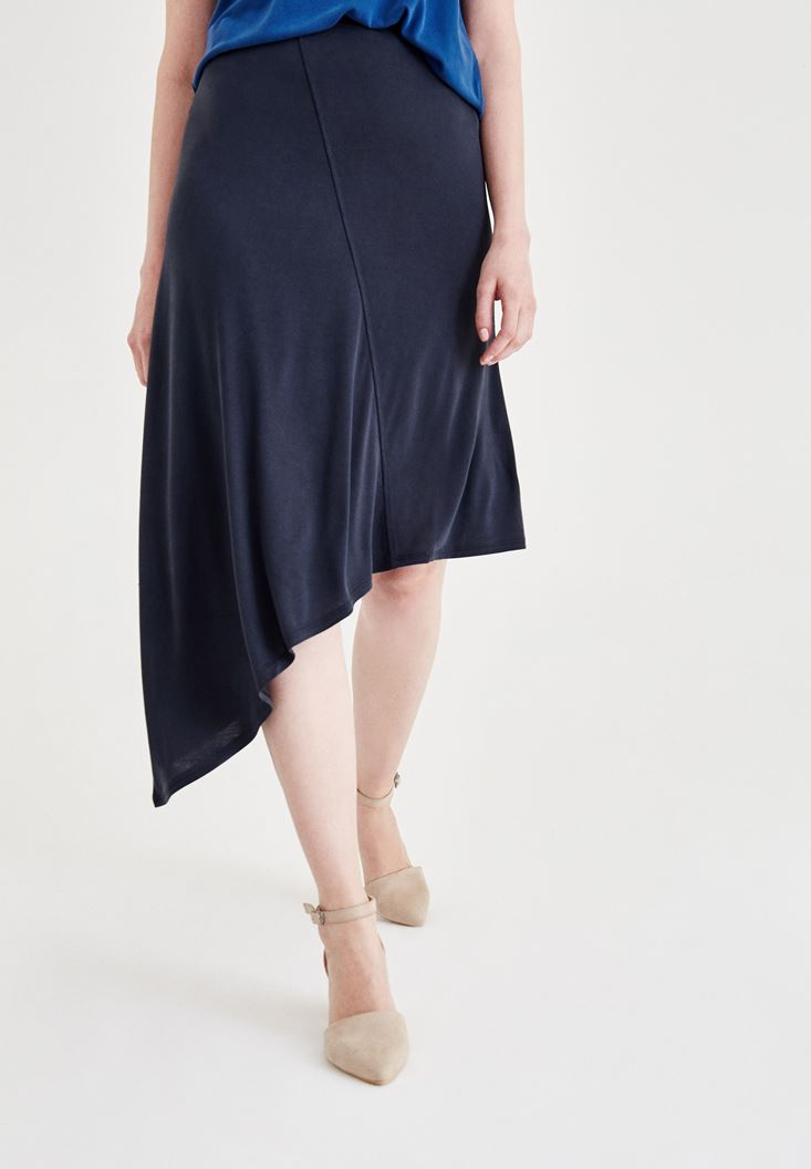 Black Soft Touch Skirt with Details