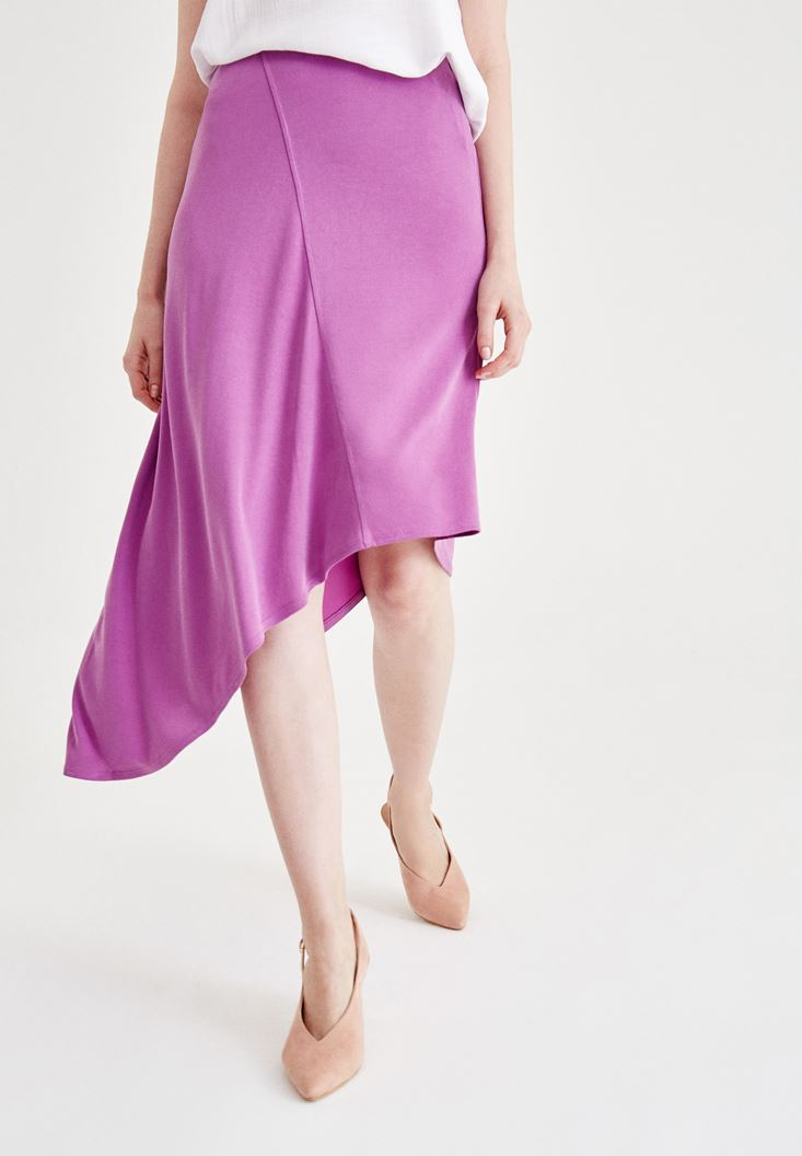 Purple Soft Touch Skirt with Details