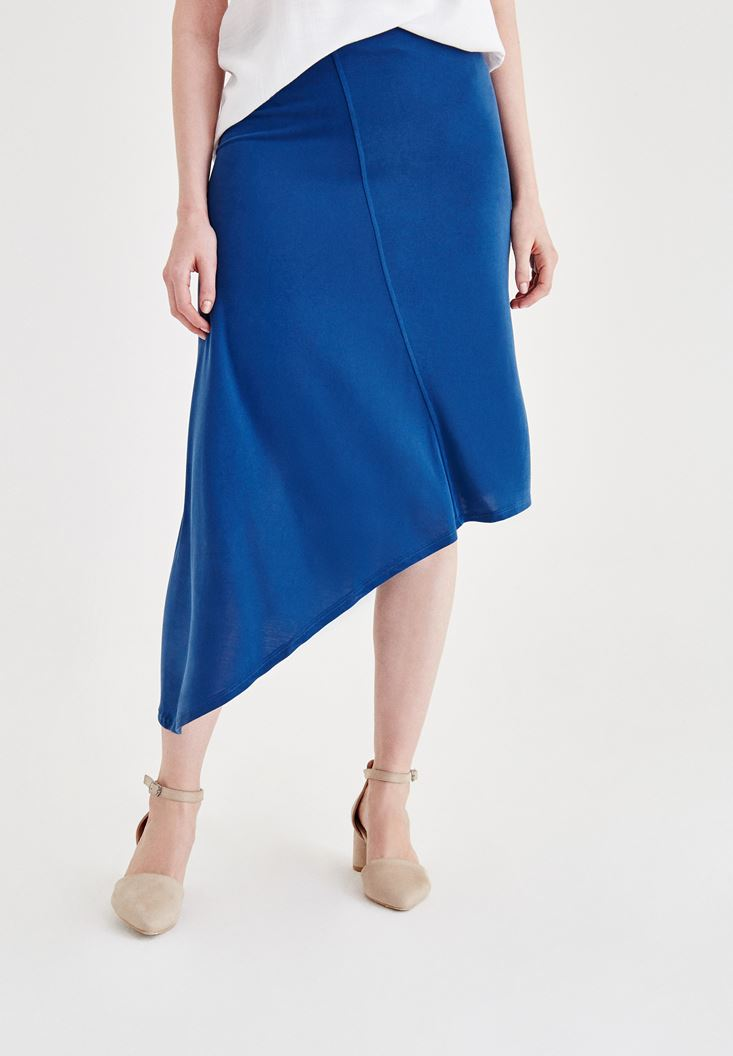 Navy Soft Touch Skirt with Details