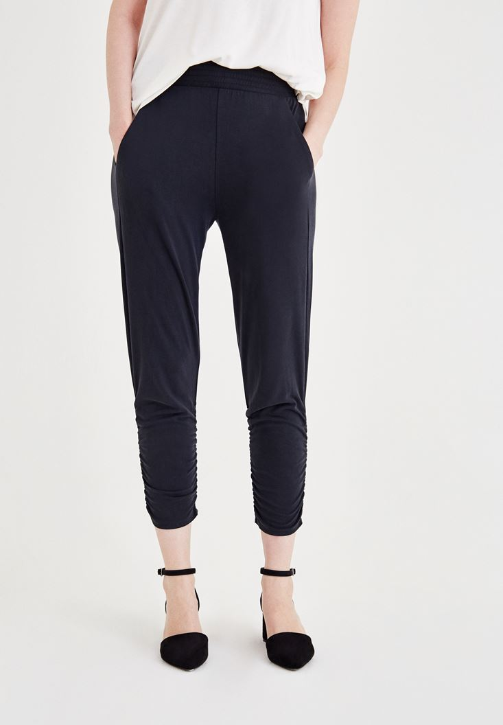 Black Ruched Pants