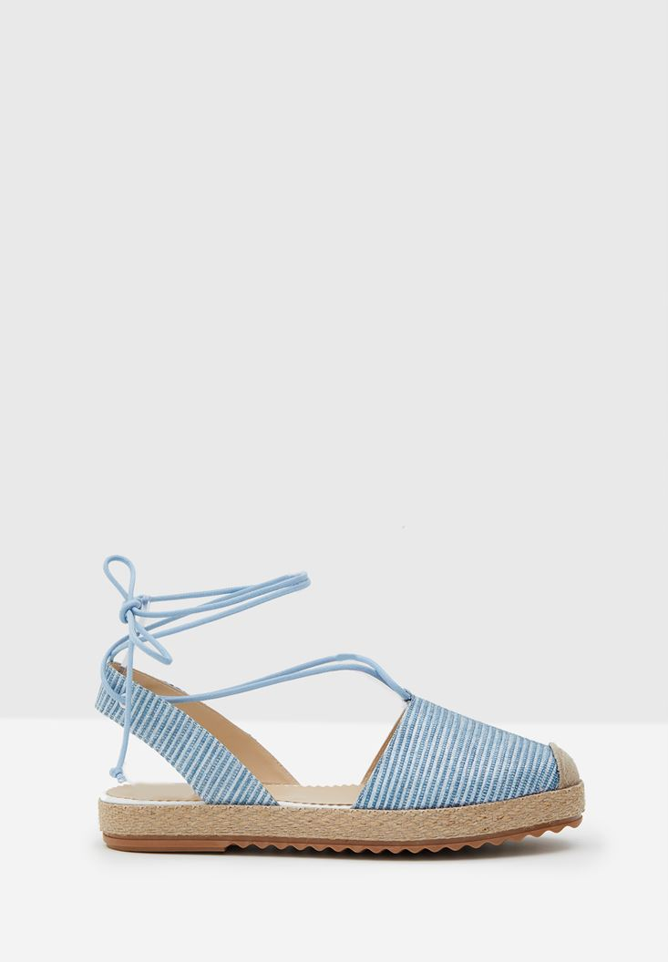 Blue Espadrille with Shiny Details
