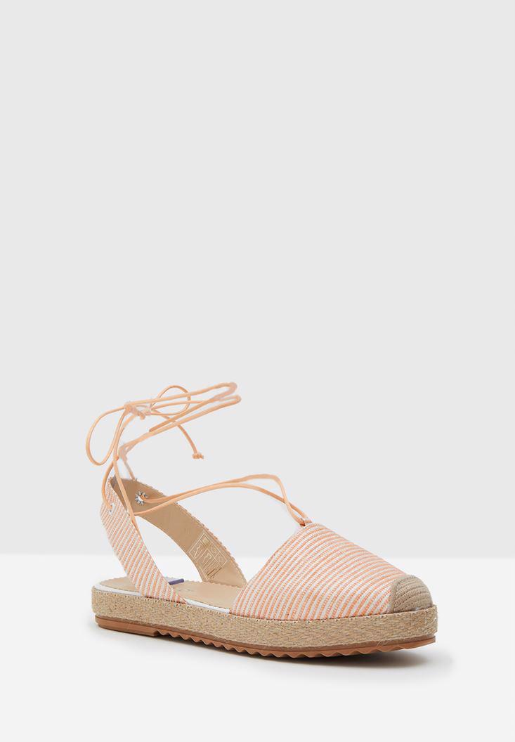 Women Cream Espadrille with Shiny Details
