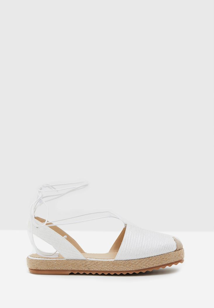 White Espadrille with Shiny Details