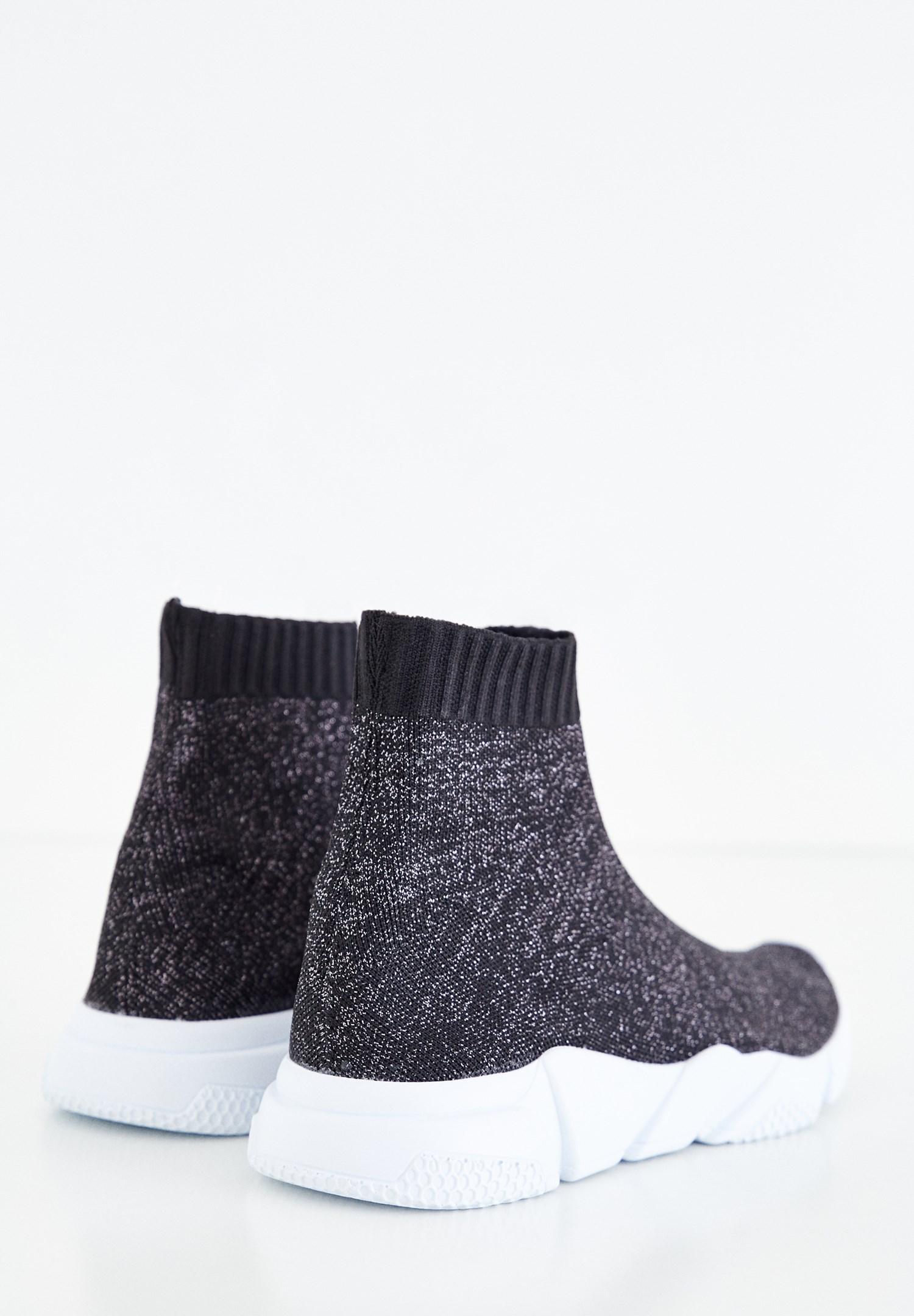 Bayan Siyah Sim Detaylı Spor Ayakkabı