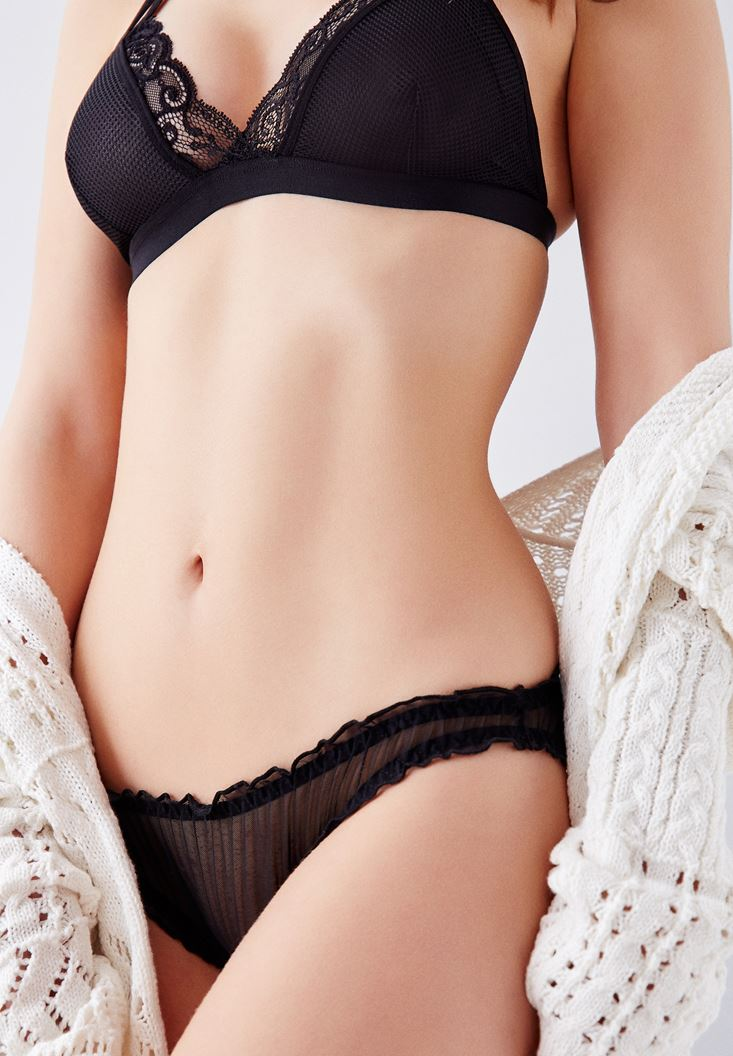 Black Panties with Details