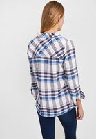 Women Mixed Cotton Shirt with Stripe Details