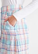 Women Mixed Plaid Skirt with Pocket Details