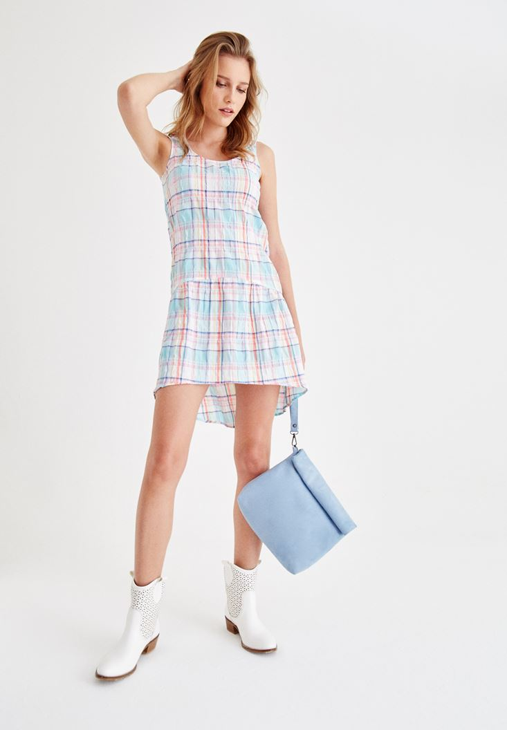 Mixed Plaid Dress