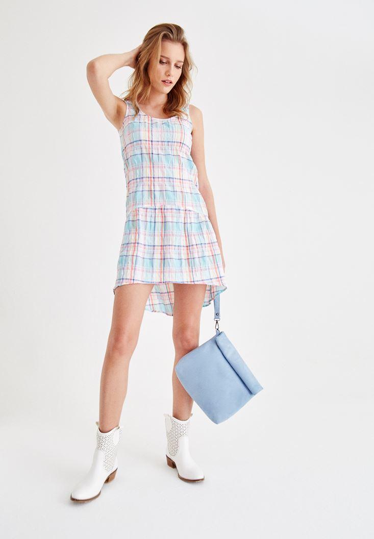 Mixed Plaid Dress