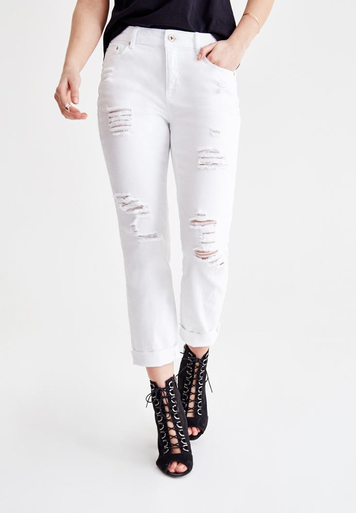 White Cigarette Jeans