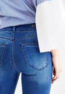 Women Navy High Rise Skinny Jeans with Details