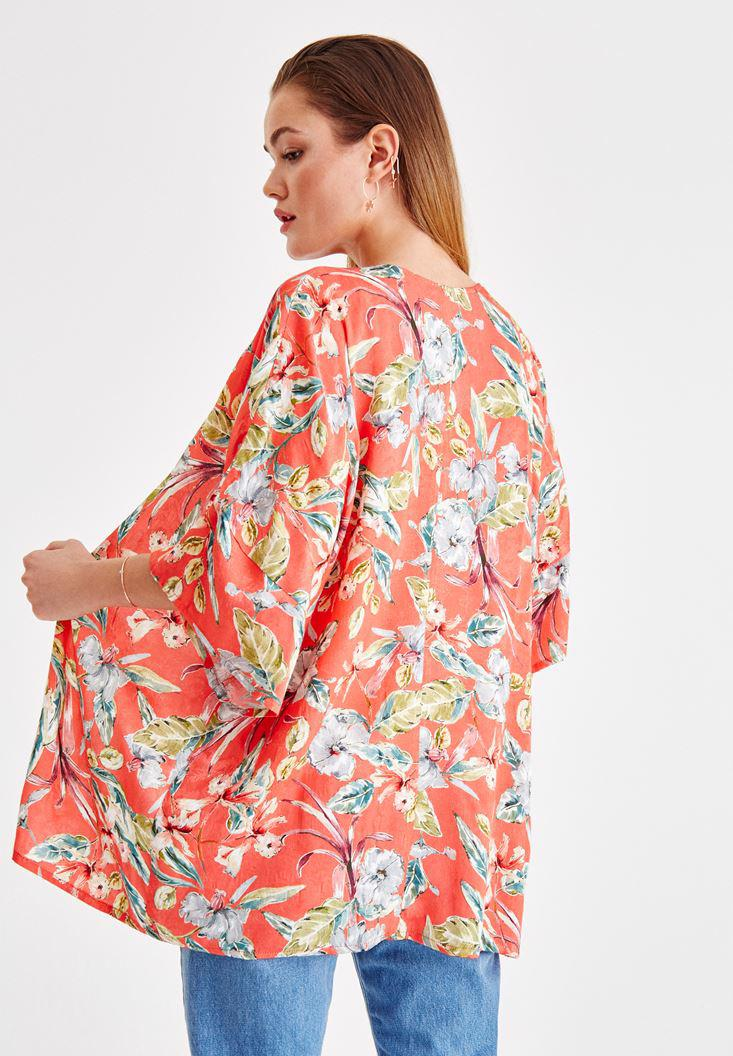 Women Mixed Flower Printed Jacket