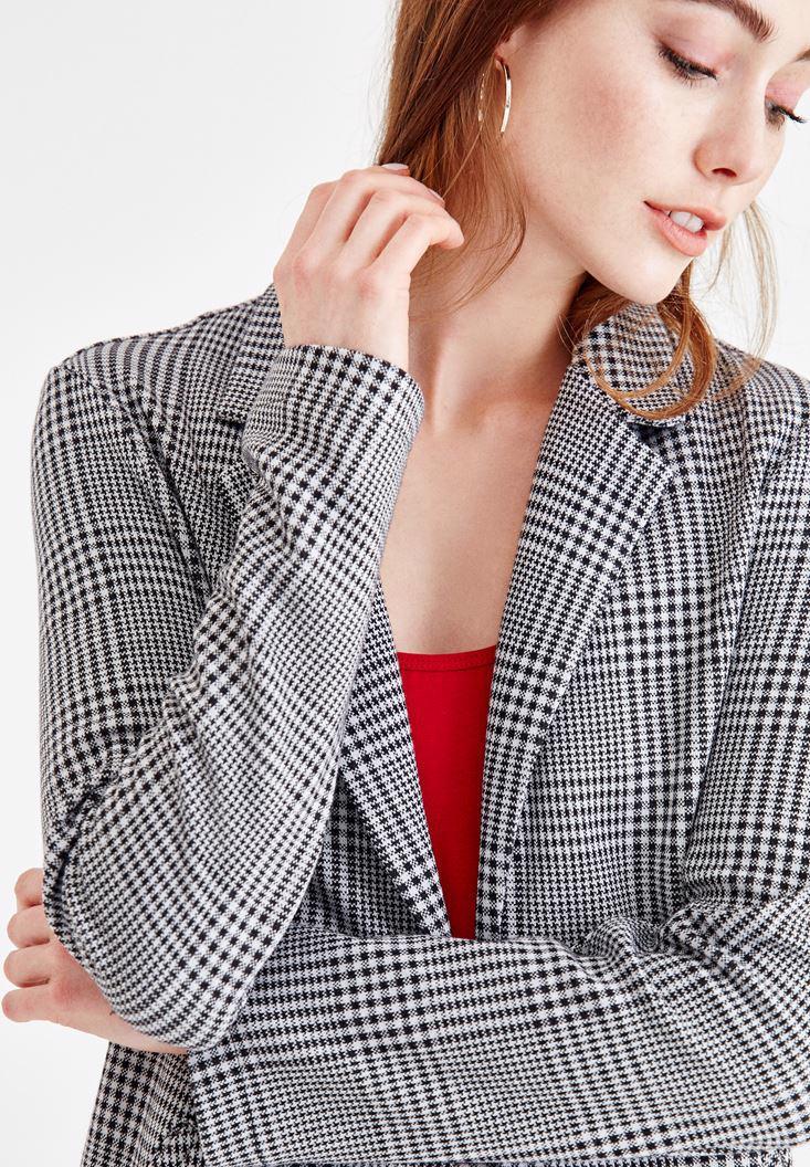 Bayan Çok Renkli Kazayağı Örme Ceket