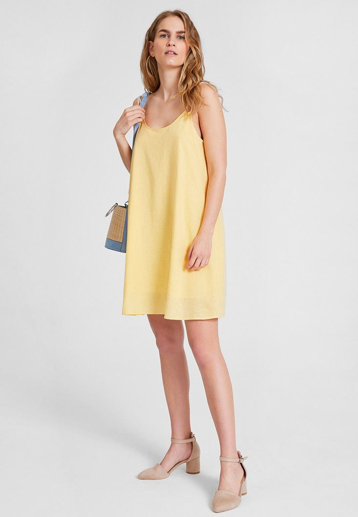 Yellow Double Strappy Dress