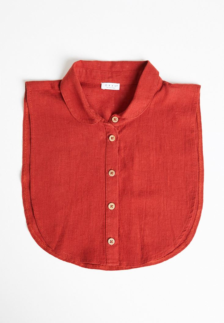 Bordeaux Linen Neck with Buttons