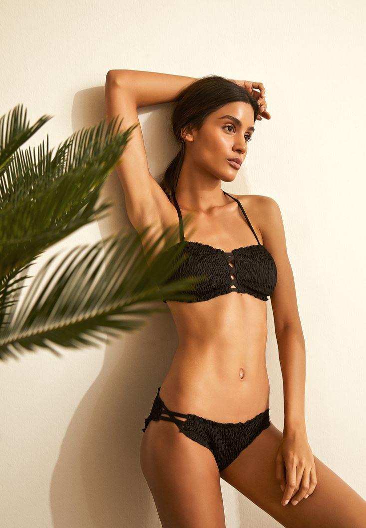 Black Textured Bikini