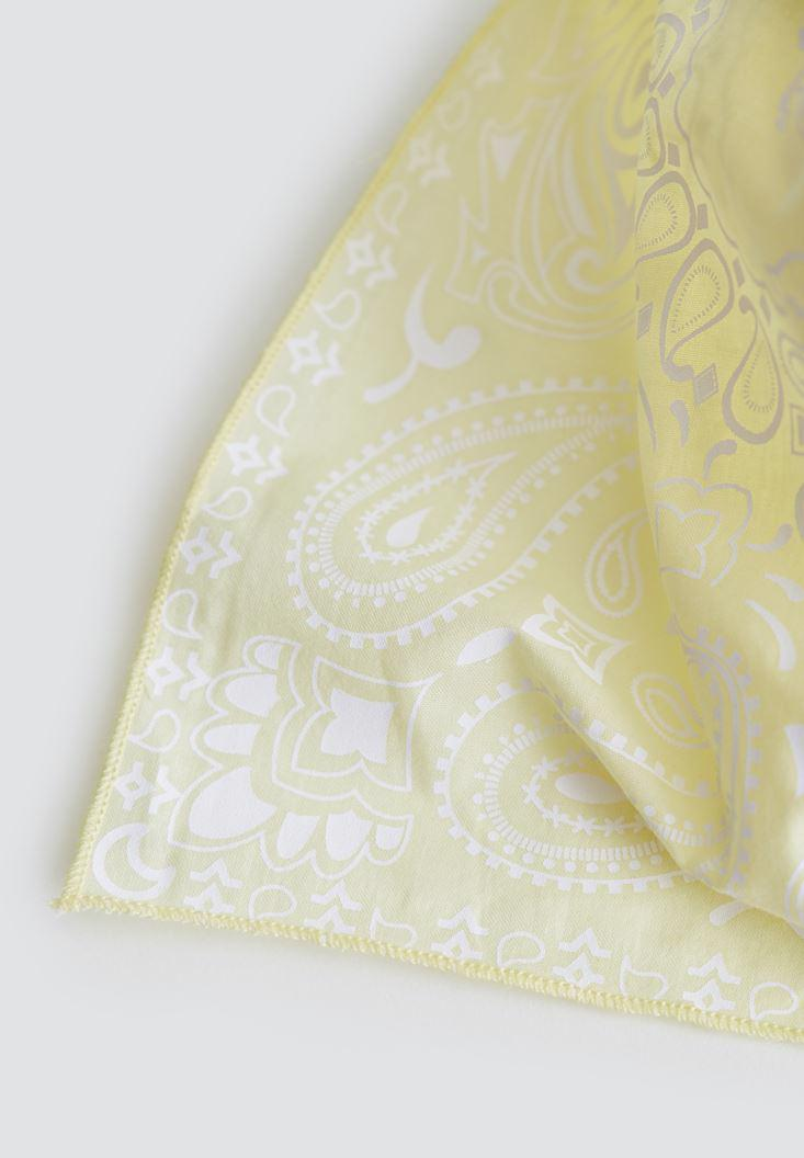 Women Yellow Scarf with Details