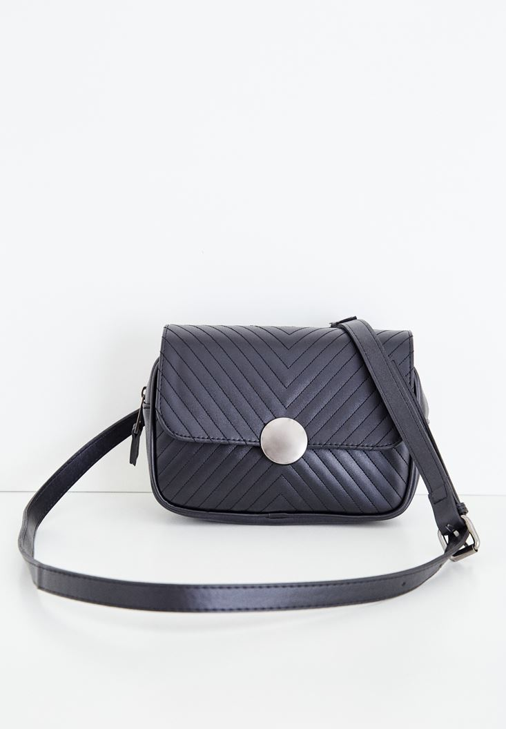 Black Belt and Crossbody Bag