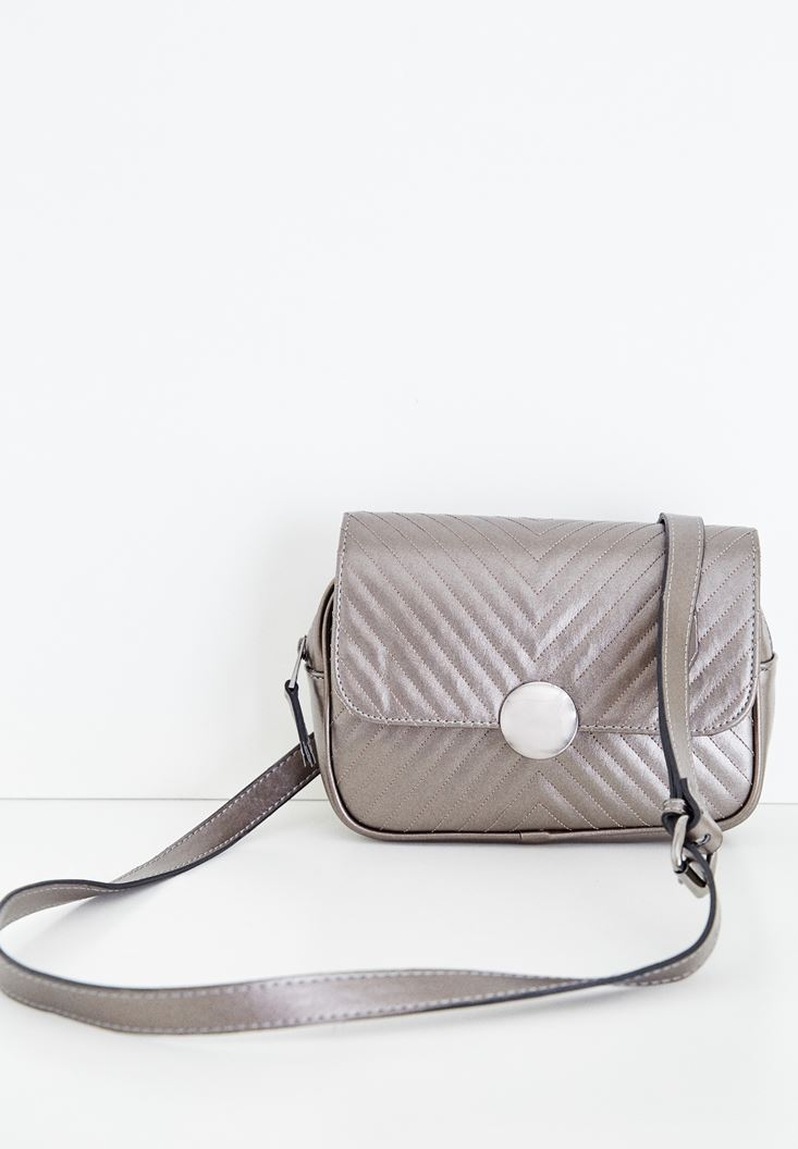 Grey Belt and Crossbody Bag