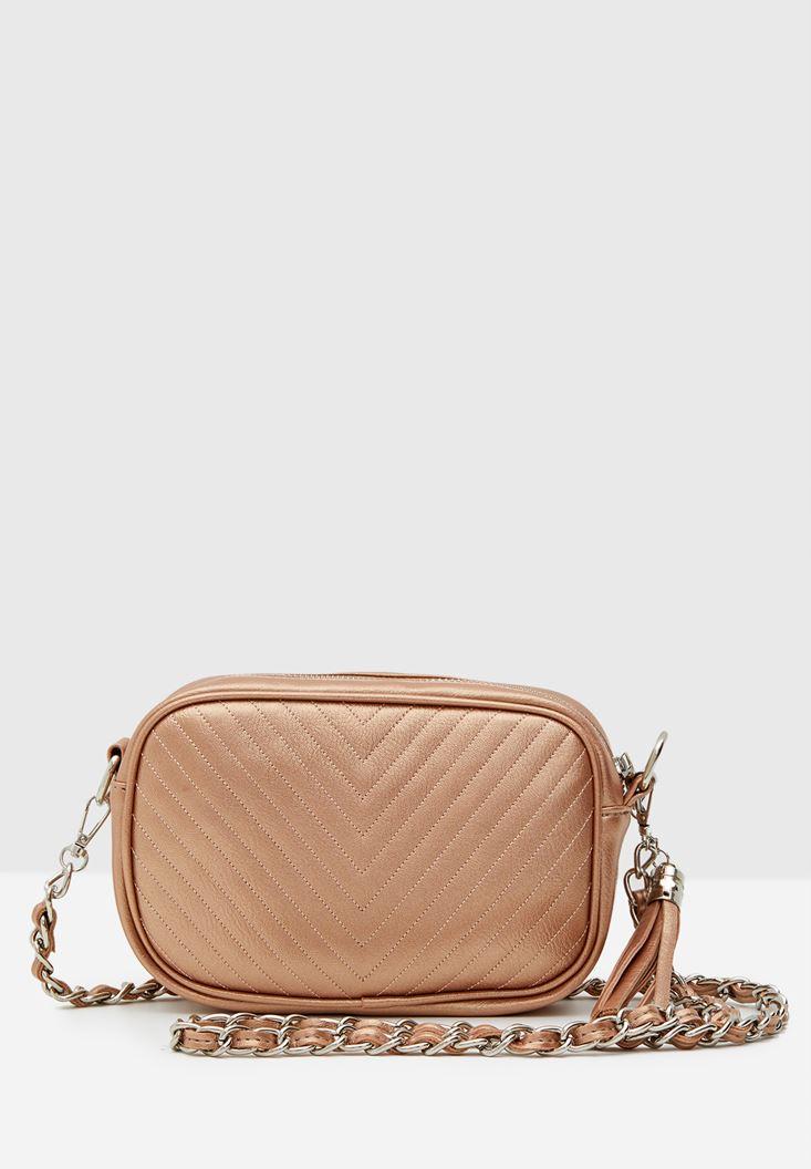 Tasseled Detail Shoulder Bag