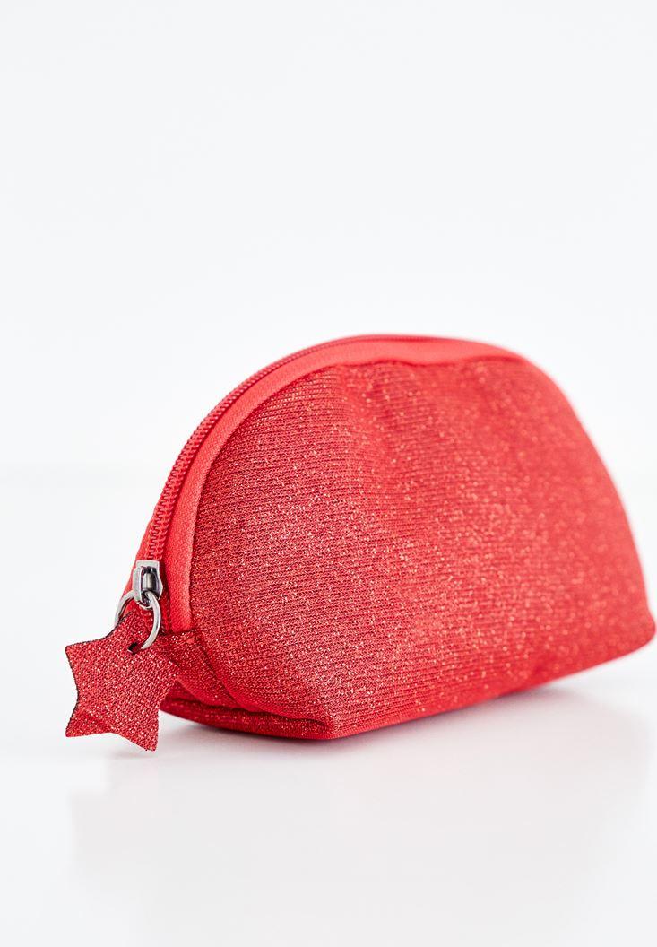 Kırmızı Parlak Makyaj Çantası