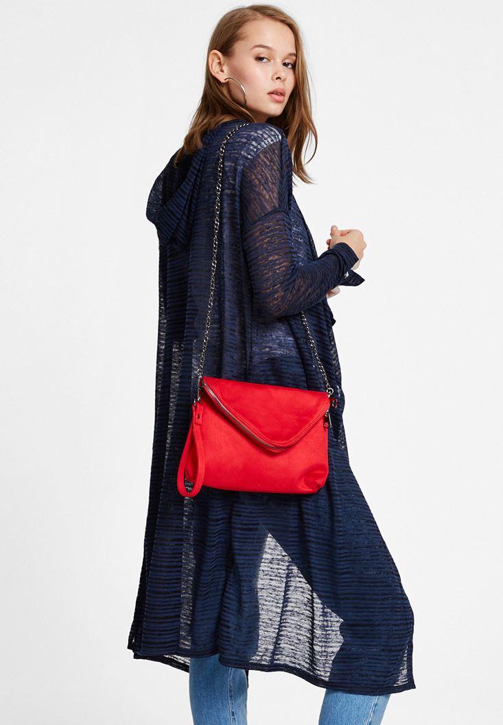 Red Suede Shoulder Bag