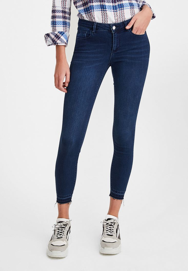 Blue Mid Rise Jean