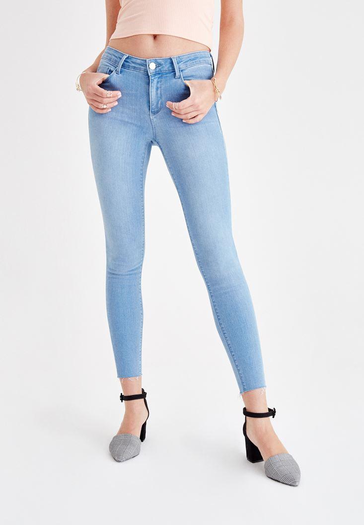 Mavi Orta Bel Jean Pantolon