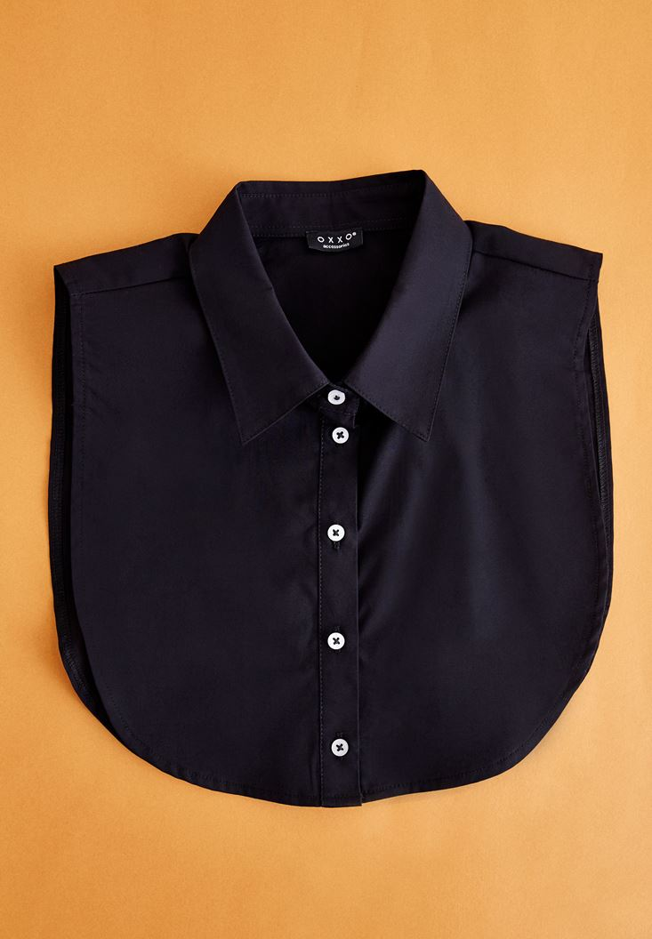 Black Neck with Buttons