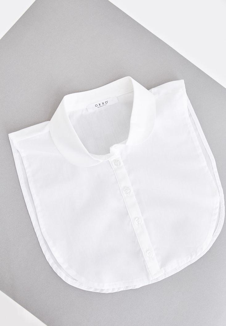 Women White Shirt Neck with Buttons