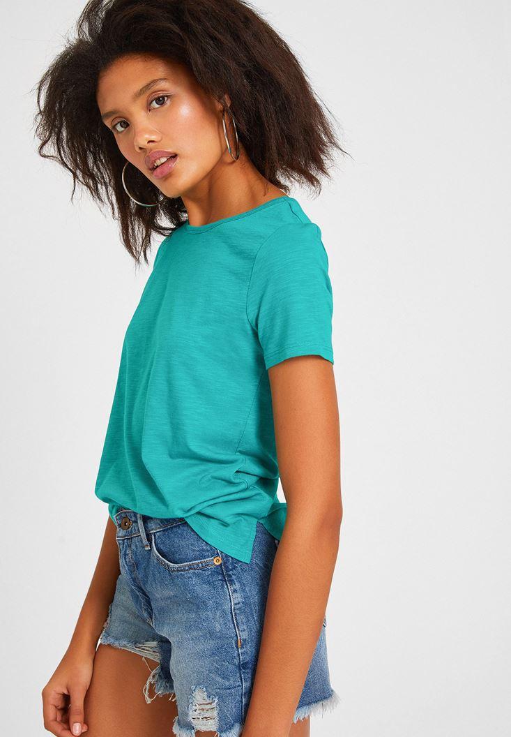 Yeşil Kısa Kollu Basic Tişört