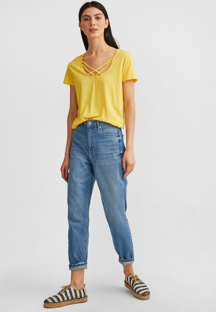 Yellow T-Shirt with Details