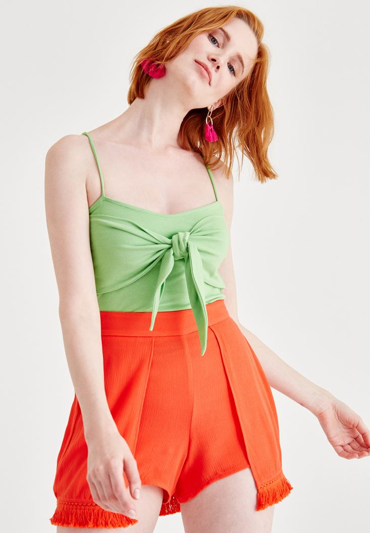 Green Tank with Binding Details