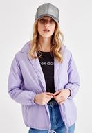 Women Purple Coat with Arm Details