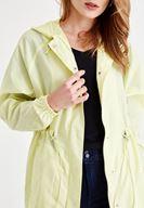 Women Yellow Raincoat with Pocket