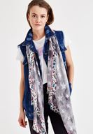 Women Mixed Scarf with Star Pattern