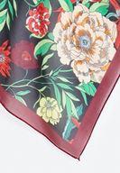 Bayan Çok Renkli Çiçekli Fular