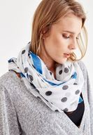 Women Mixed Scarf with Spot Detail