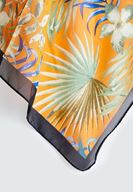 Women Mixed Scarf with Tropic Pattern