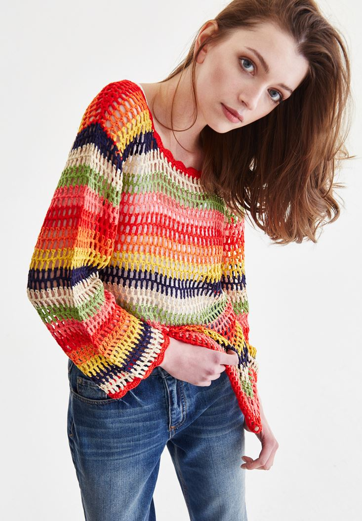 Mixed Stripped Knitwear