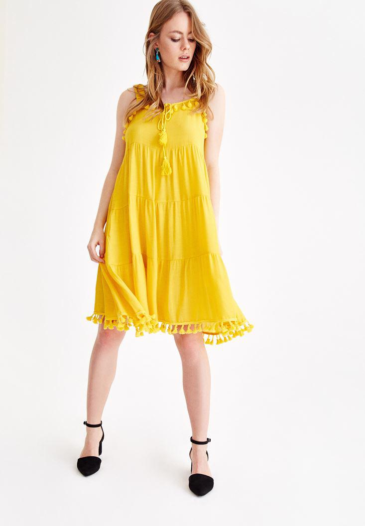 a1b7302c6ee0 Yellow Dress with Tassel Online Shopping | OXXOSHOP