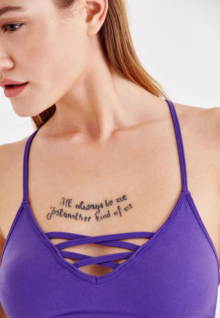 Women Purple Bralette with Details