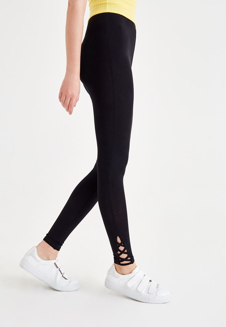 Jegging with Lace Up Details