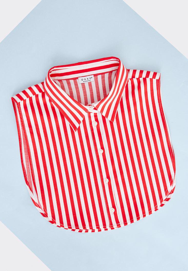 Women Mixed Neck with Buttons and Stripe Pattern