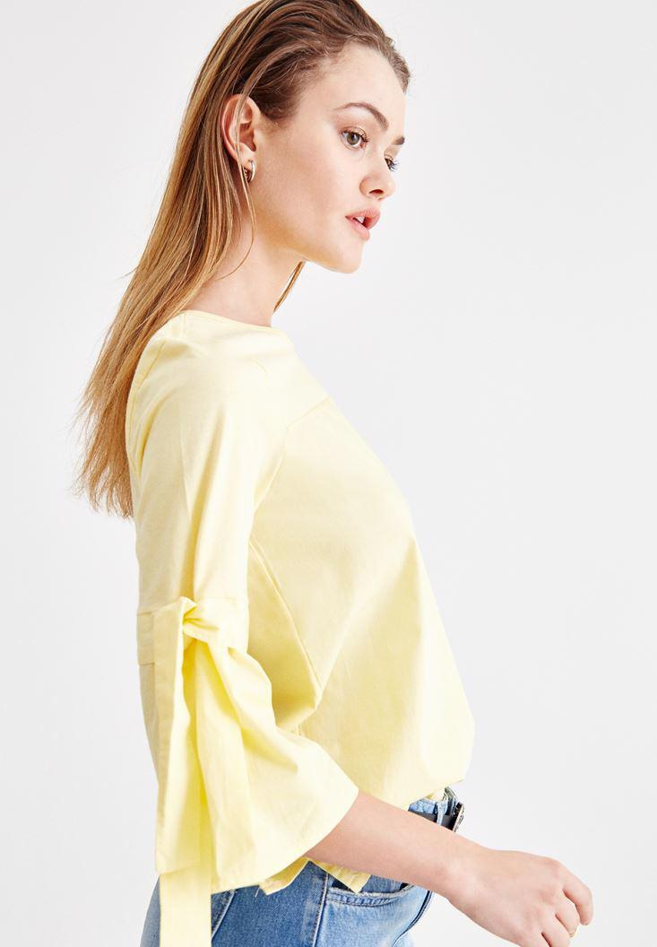 Women Yellow Blouse with Binding Details