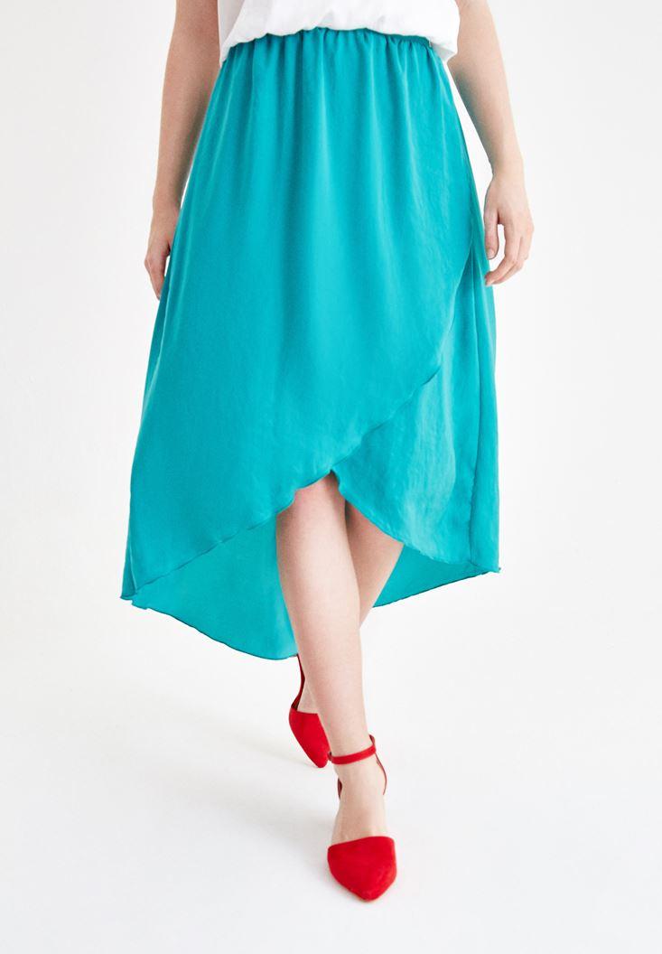 Green Asymmetric Skirt