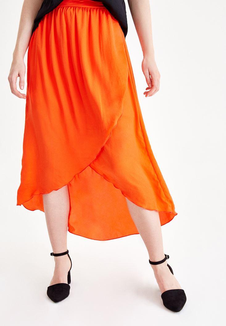 Red Asymmetric Skirt