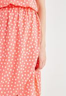 Women Mixed Skirt with Spot Pattern